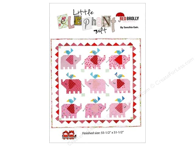 Red Brolly Little Elephant Quilt Pattern