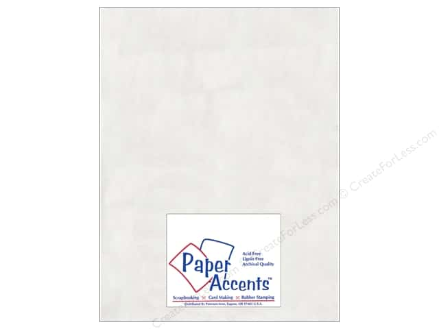 Glassine Paper 8 1/2 x 11 in. by Paper Accents White (25 sheets)