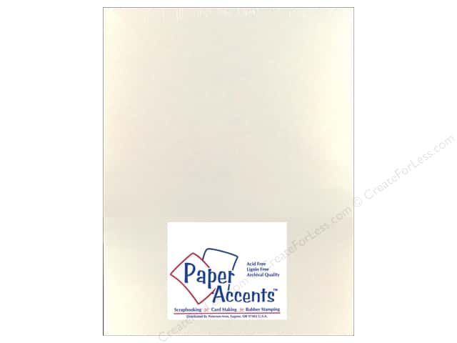 Pearlized Paper 8 1/2 x 11 in. #861 White Gold by Paper Accents 5 pc.