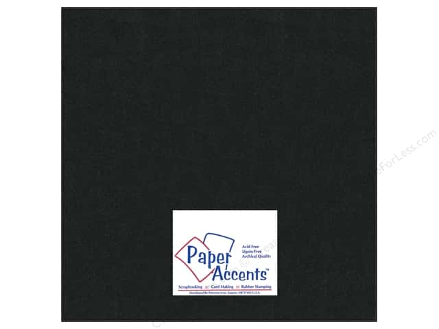 Paper Accents Pearlized Paper 12 x 12 in. #855 Onyx (25 sheets)