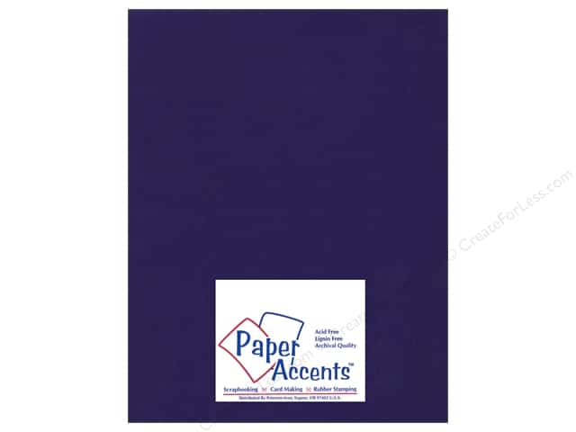 Cardstock 8 1/2 x 11 in. Ultra Matte Imperial Blue by Paper Accents (25 sheets)