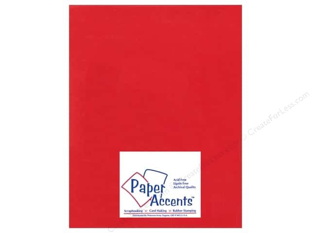 Cardstock 8 1/2 x 11 in. Ultra Matte Chinese Red by Paper Accents (25 sheets)