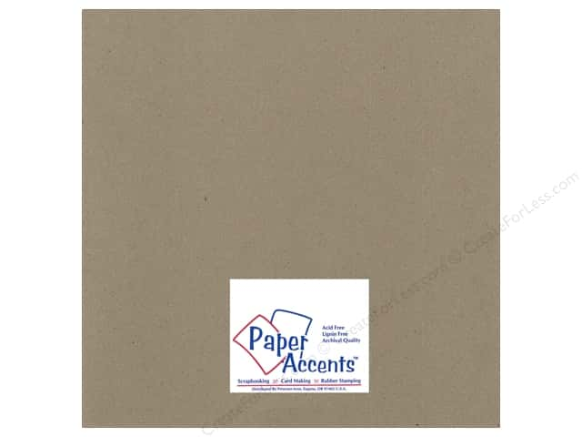 Paper Accents Chipboard 12 x 12 in. 32 pt. XL Heavy Natural (25 sheets)