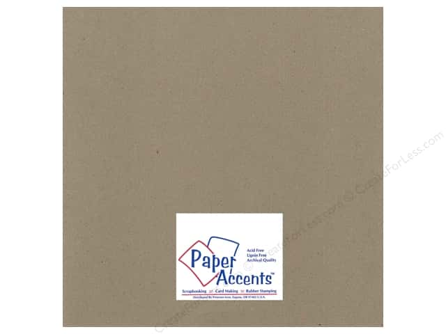 Paper Accents Chipboard 12 x 12 in. 85 pt. 2X Heavy Natural (25 sheets)