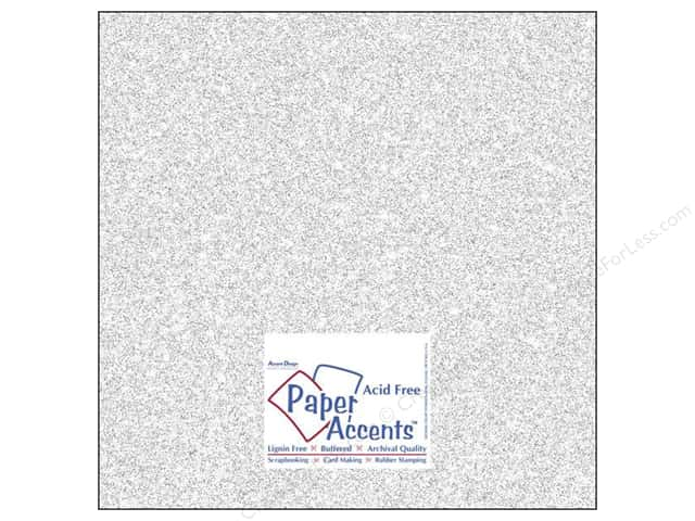 Cardstock 12 x 12 in. #5101 Glitz Silver/Fairy Dust by Paper Accents 5 pc.