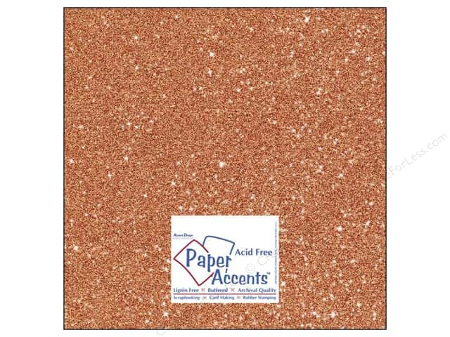Cardstock 12 x 12 in. #5109 Glitz Silver/Tangerine by Paper Accents 5 pc.