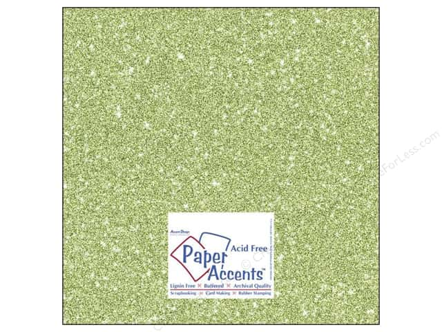 Cardstock 12 x 12 in. #5111 Glitz Silver/Margarita by Paper Accents 5 pc.