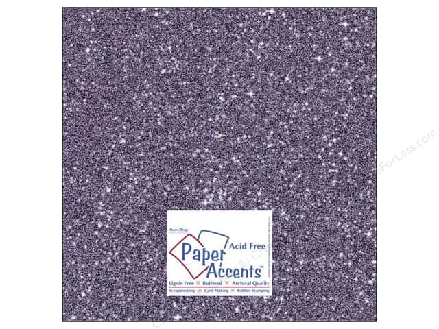 Cardstock 12 x 12 in. #5116 Glitz Silver/Violet by Paper Accents 5 pc.