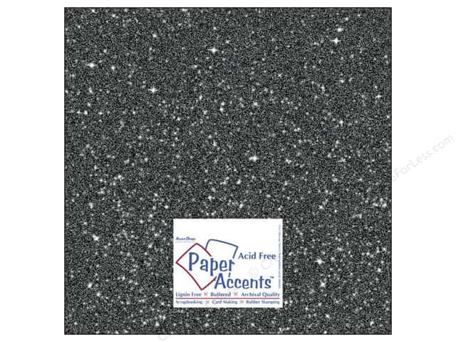 Cardstock 12 x 12 in. #5118 Glitz Silver/Midnight by Paper Accents 5 pc.