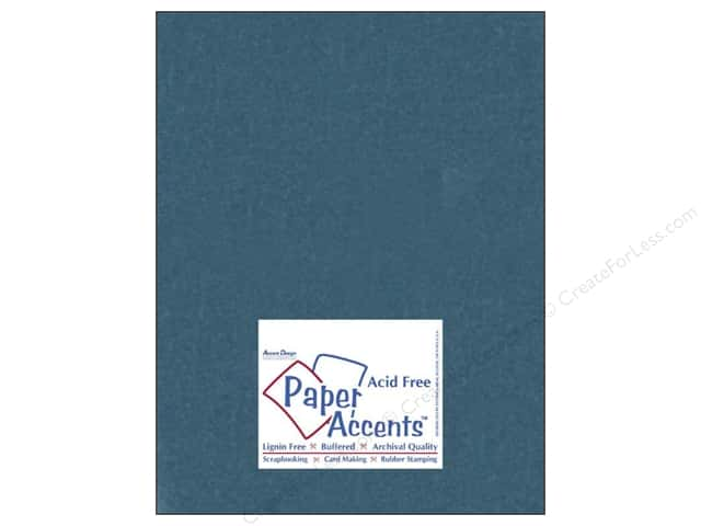 Cardstock 8 1/2 x 11 in. #838 Silk Tranquil Teal by Paper Accents 5 pc.