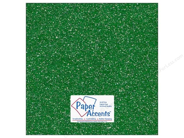 Cardstock 12 x 12 in. #5104 Glitz Silver/Fairway by Paper Accents 5 pc.