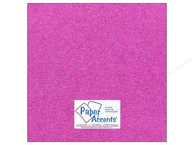 Cardstock 12 x 12 in. #5115 Glitz Silver/Sugar Plum by Paper Accents 5 pc.