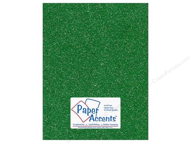 Cardstock 8 1/2 x 11 in. #5104 Glitz Silver/Fairway by Paper Accents 5 pc.