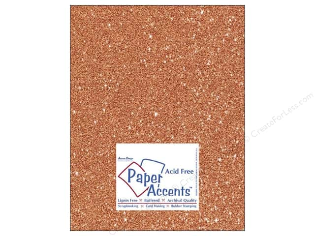 Cardstock 8 1/2 x 11 in. #5109 Glitz Silver/Tangerine by Paper Accents 5 pc.