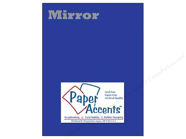 Cardstock 8 1/2 x 11 in. Mirror Blue by Paper Accents 5 pc.