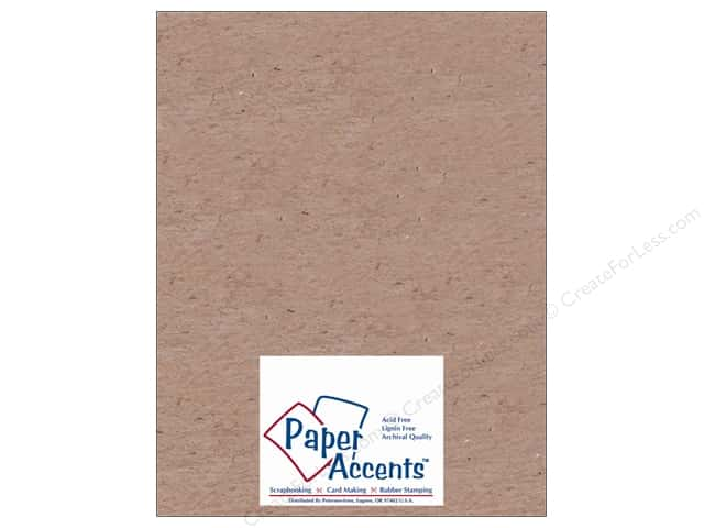 Paper Accents Chipboard 8 1/2 x 11 in. 20 pt. Light Weight Natural 5 pc.