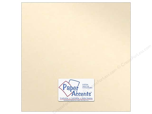 Paper Accents Pearlized Paper 12 x 12 in. #8820 Cameo 5 pc.