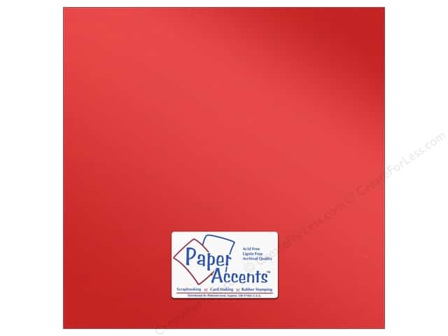 Anodized Cardstock 12 x 12 in. Firewall by Paper Accents 5 pc.