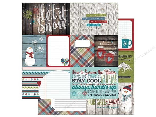 Simple Stories 12 x 12 in. Paper Snow Patrol Elements 1 (25 sheets)