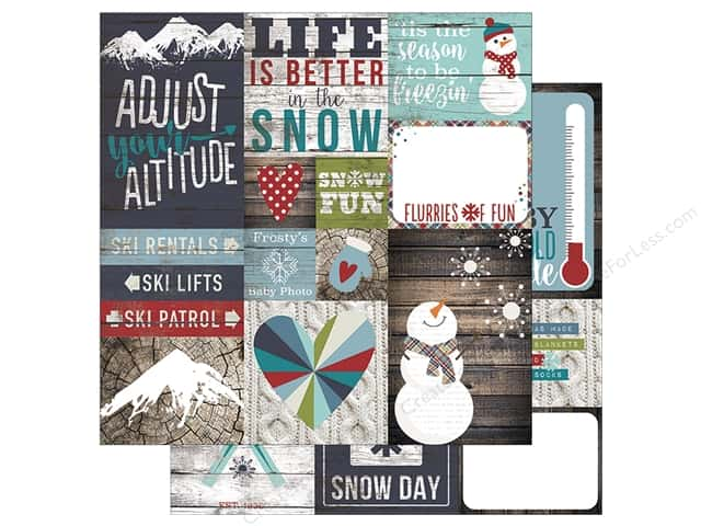 Simple Stories 12 x 12 in. Paper Snow Patrol Elements 2 (25 sheets)