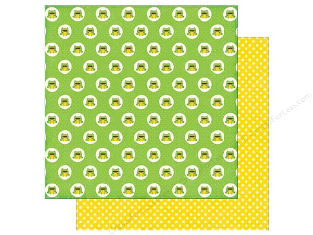 Echo Park 12 x 12 in. Paper Little Man Collection Frogs (25 sheets)