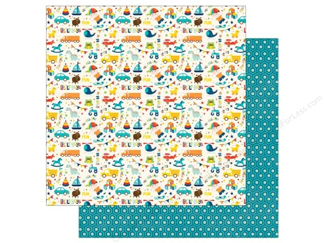 Echo Park 12 x 12 in. Paper Little Man Collection Icons (25 sheets)