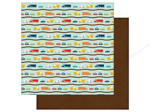 Echo Park 12 x 12 in. Paper Little Man Collection Cars (25 sheets)
