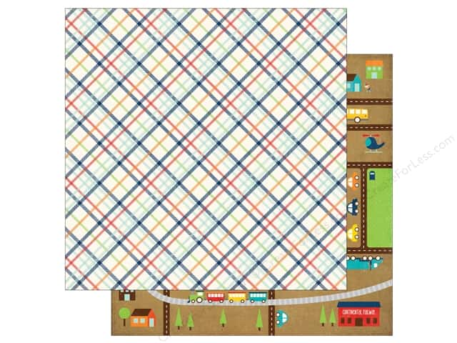 Echo Park 12 x 12 in. Paper Little Man Collection Plaid (25 sheets)