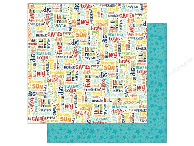 Echo Park 12 x 12 in. Paper Little Man Collection Words (25 sheets)