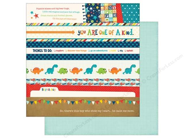 Echo Park 12 x 12 in. Paper Little Man Collection Border Strips (25 sheets)