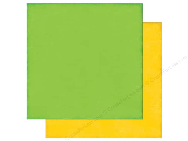 Echo Park 12 x 12 in. Paper Little Man Collection Green/Yellow (25 sheets)