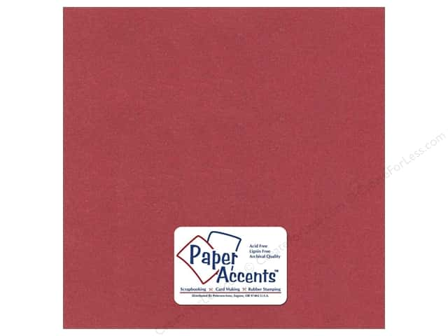 Paper Accents Pearlized Paper 12 x 12 in. #8862 Marsala 5 pc.