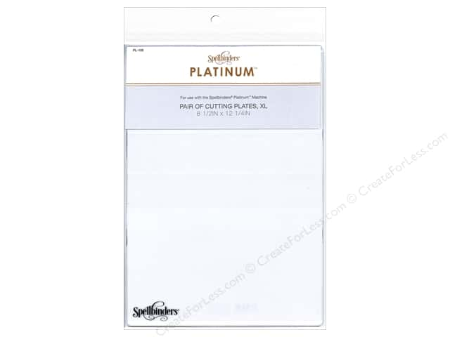 Spellbinders Accessories Platinum Cutting Plate Pair XL