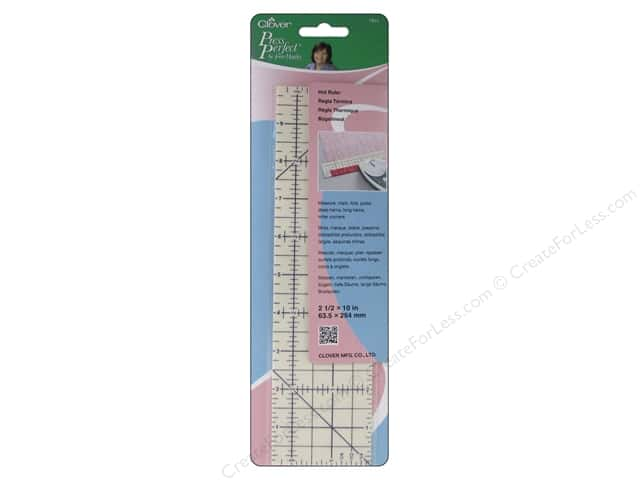 Clover Press Perfect Hot Ruler 2 1/2 x 10 in.