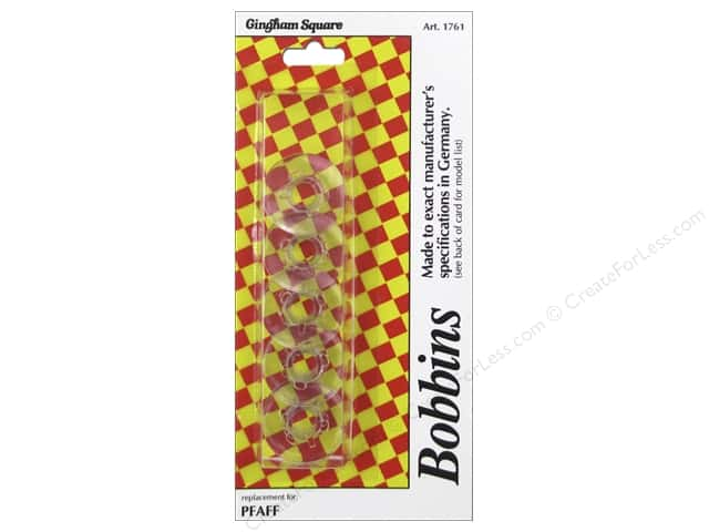 Gingham Square Bobbin Pfaff/Plastic 5pc
