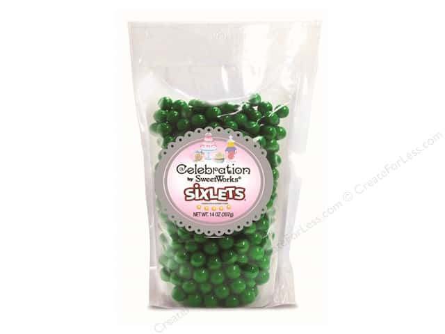 SweetWorks Celebration Sixlets 14 oz. Emerald