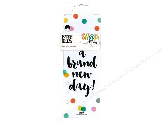 Simple Stories Collection Carpe Diem Snap Plastic Bookmarks