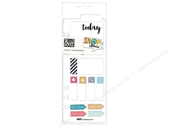 Simple Stories Collection Carpe Diem Snap Sticky Notes Bookmark