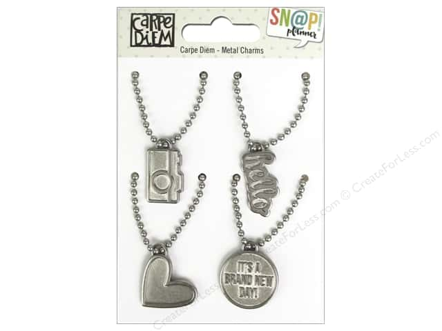 Simple Stories Collection Carpe Diem Snap Metal Charms