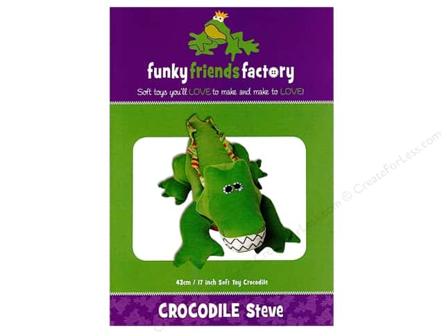 Funky Friends Factory Crocodile Steve Pattern
