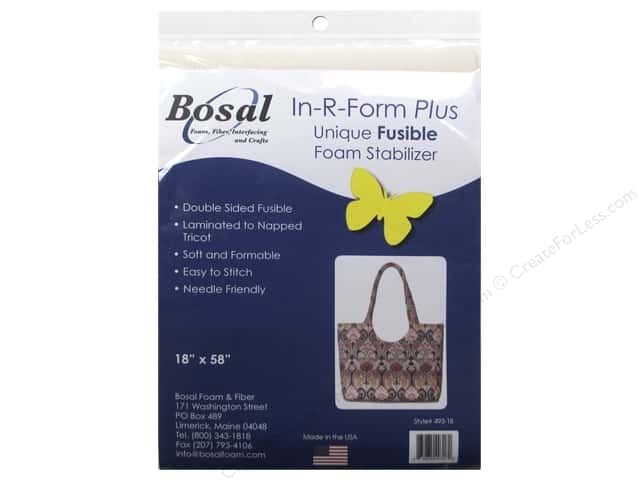 Bosal In-R-Form Plus Fusible Foam Stabilizer 18 x 58 in. Double Sided White