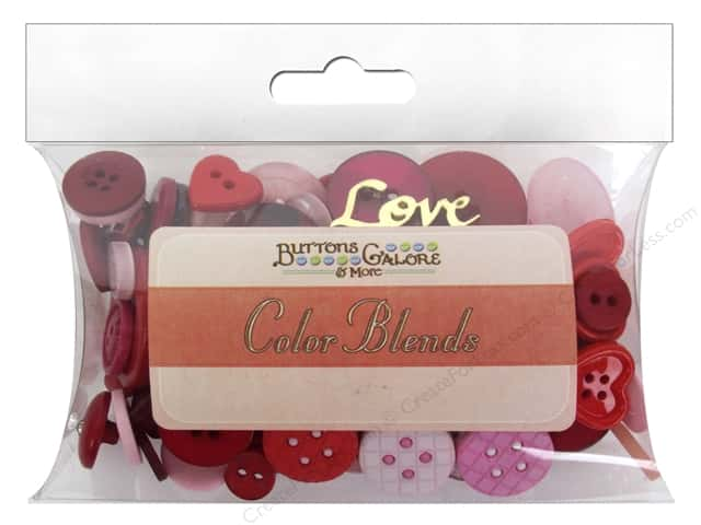 Buttons Galore Button Color Blends 3 oz. Valentine