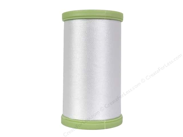Coats Trilobal Polyester Embroidery Thread  600 yd. #100 White