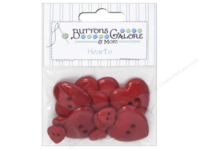 Buttons Galore Theme Buttons Red Hearts