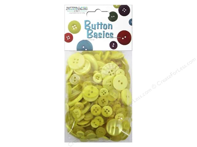 Buttons Galore Button Candy Bags 5.5 oz. Lemon Yellow