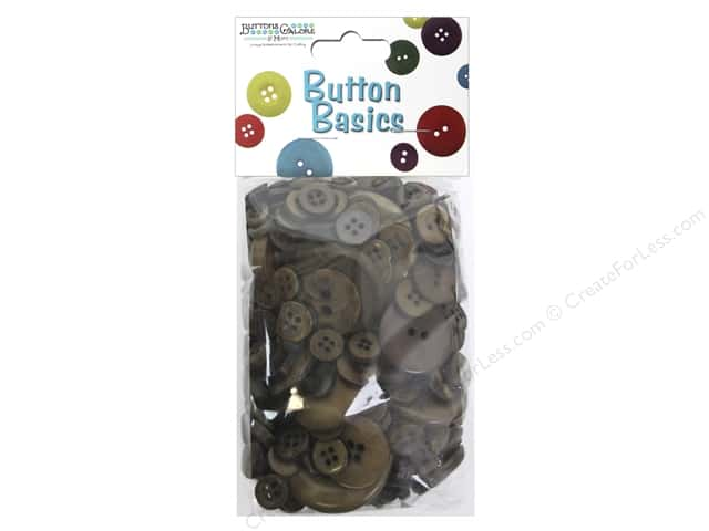 Buttons Galore Button Candy Bags 5.5 oz. Chocolate Brown