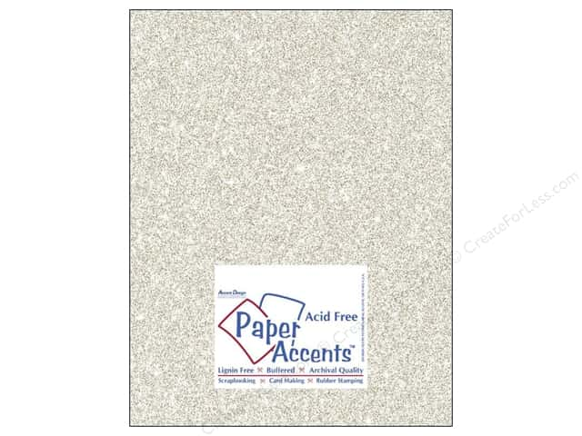 Cardstock 8 1/2 x 11 in. #5102 Glitz Silver/Champagne by Paper Accents 5 pc.