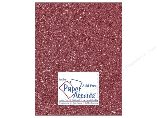 Paper Accents Cardstock 8 1/2 x 11 in. #5107 Glitz Silver/Crimson 5 pc.
