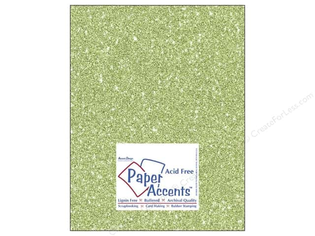Cardstock 8 1/2 x 11 in. #5111 Glitz Silver/Margarita by Paper Accents 5 pc.
