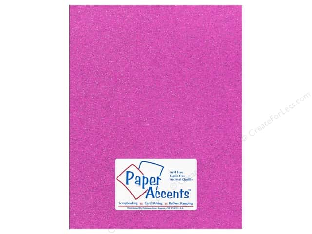 Cardstock 8 1/2 x 11 in. #5115 Glitz Silver/Sugar Plum by Paper Accents 5 pc.